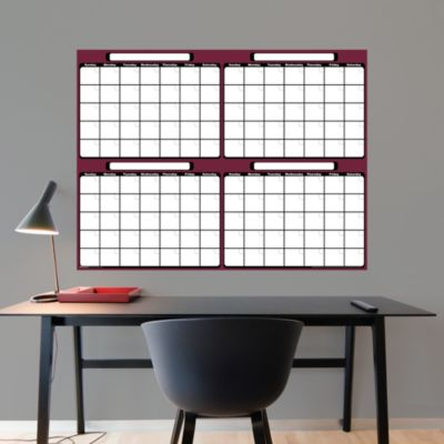 Dry Erase 4-Month Calendar Fathead Wall Decal