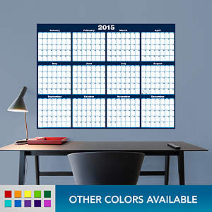 Large Dry Erase 2015 Calendar Fathead Wall Decal