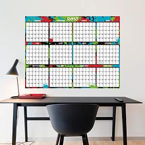 Large Dry Erase 2015 Calendar  - Paint Splatter Fathead Wall Decal