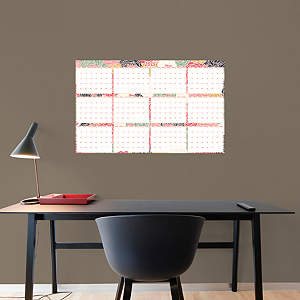 2015 Dry Erase Calendar - Floral Fathead Wall Decal