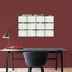 2015 Dry Erase Calendar - Camouflage Fathead Wall Decal