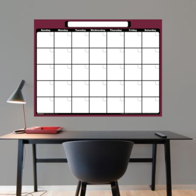 Dry Erase 1-Month Calendar Fathead Wall Decal