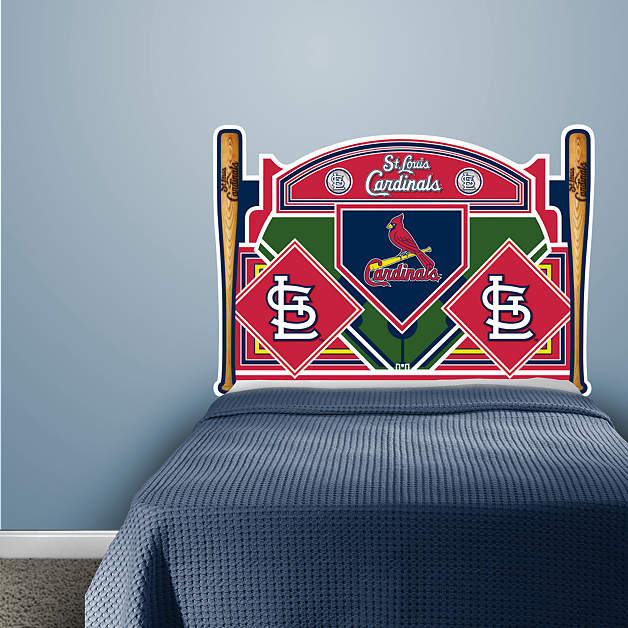 st louis cardinals headboard full bed fathead wall decal. Black Bedroom Furniture Sets. Home Design Ideas
