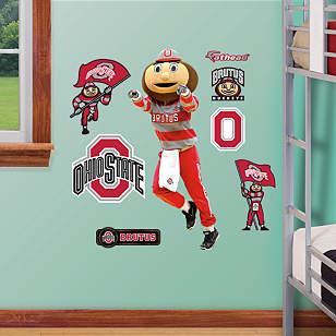 Ohio State Mascot: Brutus Buckeye - Fathead Jr.