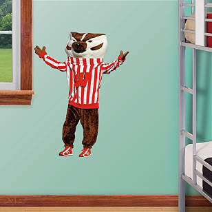 Wisconsin Badgers Mascot Bucky Badger - Fathead Jr.
