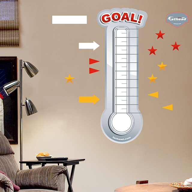 Thermometer goal tracker with microsoft autos post