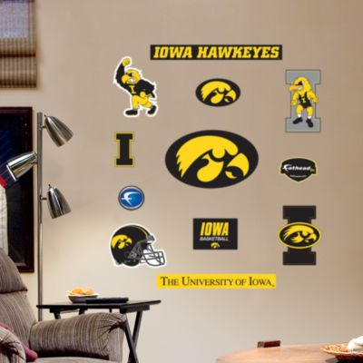 Iowa Hawkeyes - Team Logo Assortment Fathead Wall Decal