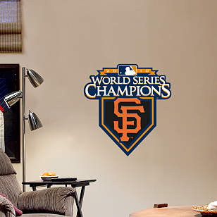 Fathead Jr. - San Francisco Giants 2010 World Series Champions Logo