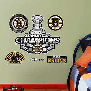 Fathead Jr. - Boston Bruins 2011 Stanley Cup Champions Logo