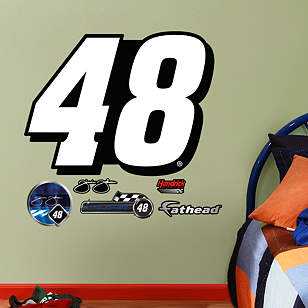 Jimmie Johnson #48 Logo - Fathead Jr.