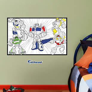 Dry Erase Transformers Coloring Sheet