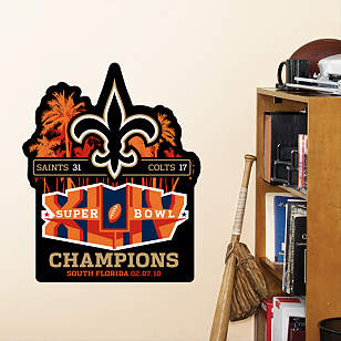 Fathead Jr. - Saints Super Bowl XLIV Champions Logo