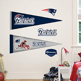 New England Patriots Pennants - Fathead Jr.