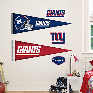 New York Giants Pennants - Fathead Jr.