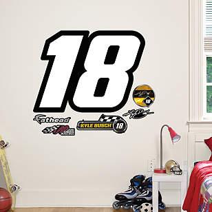 Kyle Busch #18 Logo - Fathead Jr.