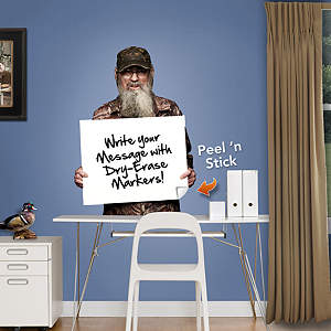 Uncle Si Dry Erase Board - Fathead Jr Fathead Wall Decal
