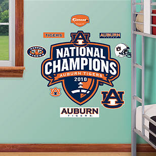 Fathead Jr. - Auburn Tigers 2010 National Champions Logo