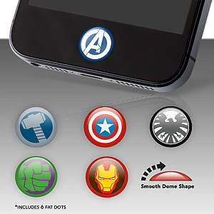 Marvel Heroes Fat Dots Stickers