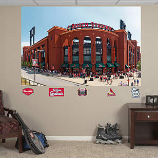 Outside Busch Stadium Mural