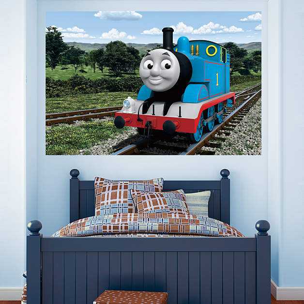 thomas the tank engine countryside mural thomas and friends kids. Black Bedroom Furniture Sets. Home Design Ideas
