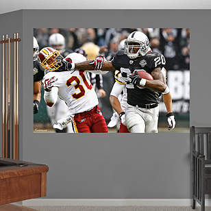 Darren McFadden Stiff Arm - In Your Face Mural