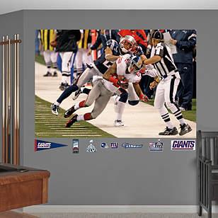 Mario Manningham Super Bowl XLVI Sideline Catch Mural