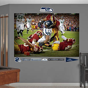 Marshawn Lynch Touchdown Mural