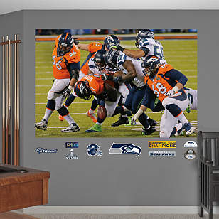 Seattle Seahawks - Super Bowl XLVIII Defensive Swarm Mural