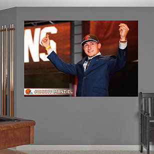 Johnny Manziel Money Sign Draft Day Mural