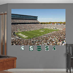 Michigan State Spartans - Spartan Stadium Mural