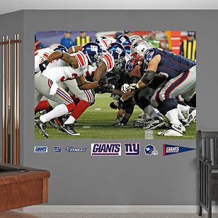 Giants-Patriots Line of Scrimmage Mural
