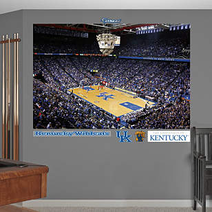 Kentucky Basketball Mural - Rupp Arena Corner View
