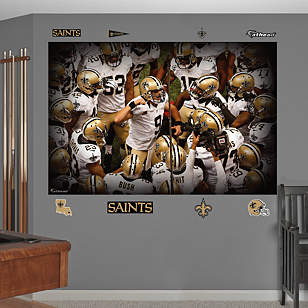 New Orleans Saints Team Mural