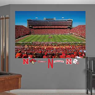 Nebraska Cornhuskers - 50 Yard Line Stadium Mural