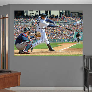 Miguel Cabrera Swings Away Mural