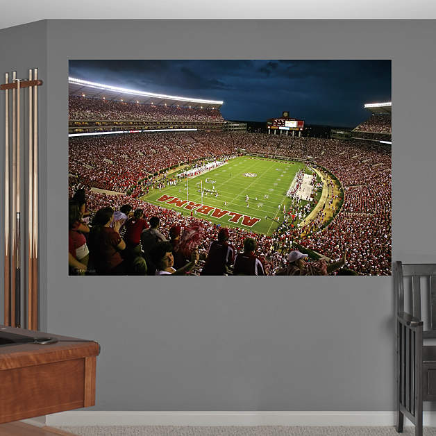alabama bryant denny stadium mural fathead wall decal. Black Bedroom Furniture Sets. Home Design Ideas