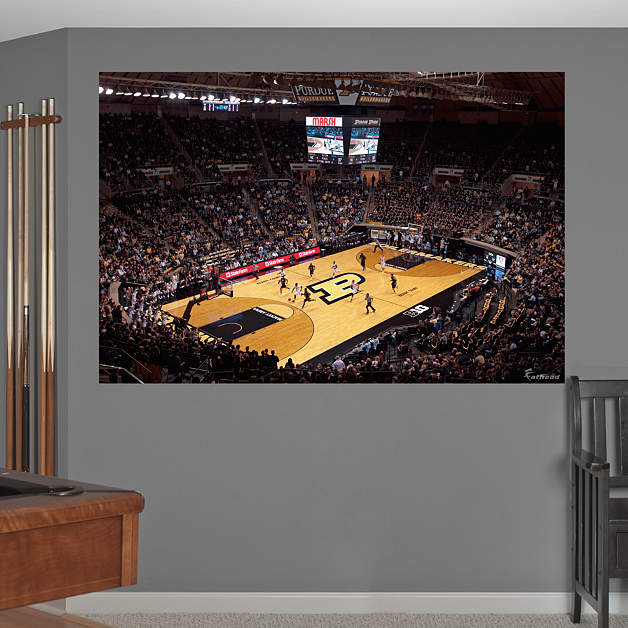 Purdue basketball mural mackey arena wall decal shop for Basketball mural