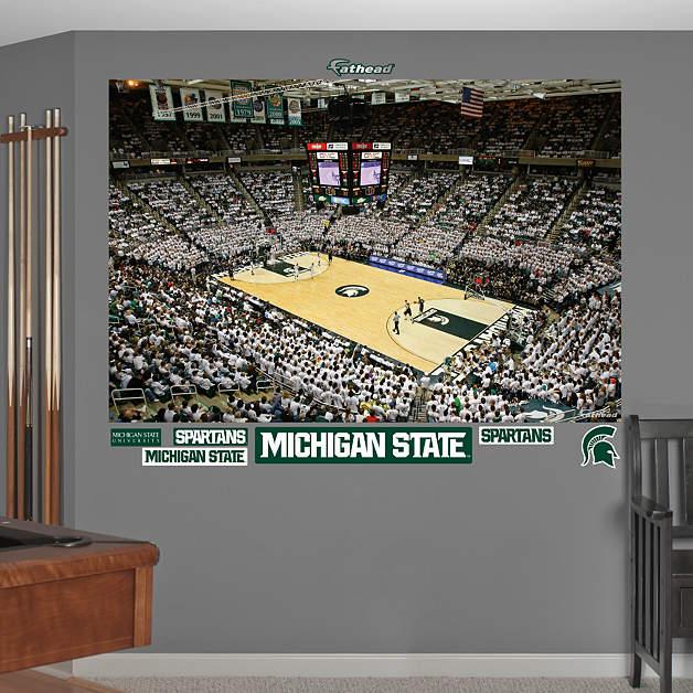 Michigan state basketball mural breslin center wall for Basketball mural