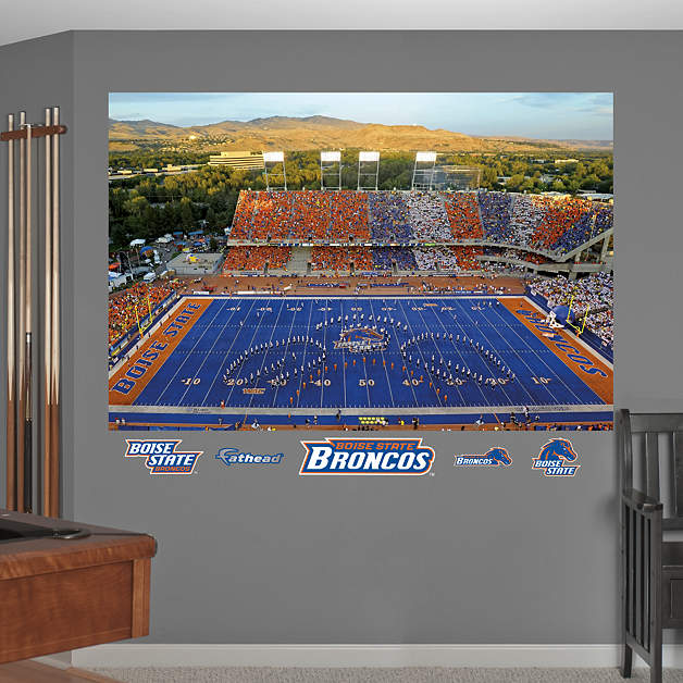 Boise State Broncos Bronco Stadium Mural Wall Decal Shop Fathead For Boise State Broncos Decor