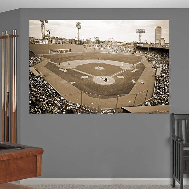 Inside fenway park historical mural wall decal shop for Boston wall mural