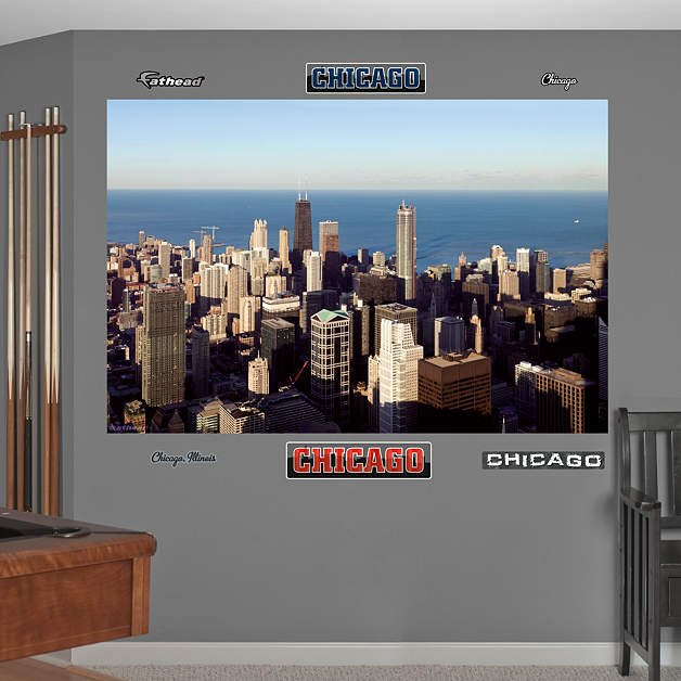 1 877 328 8877 for Chicago skyline wall mural