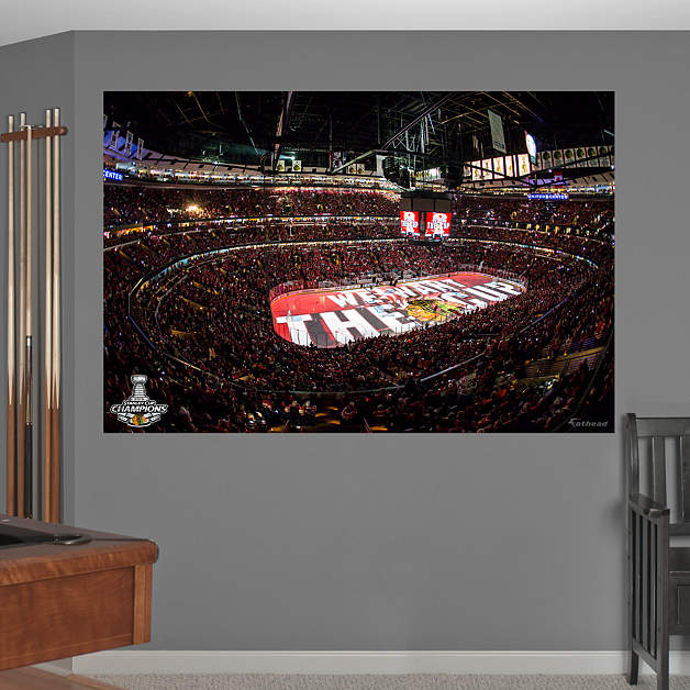 chicago blackhawks 2015 stanley cup arena mural wall decal ForBlackhawks Mural Chicago