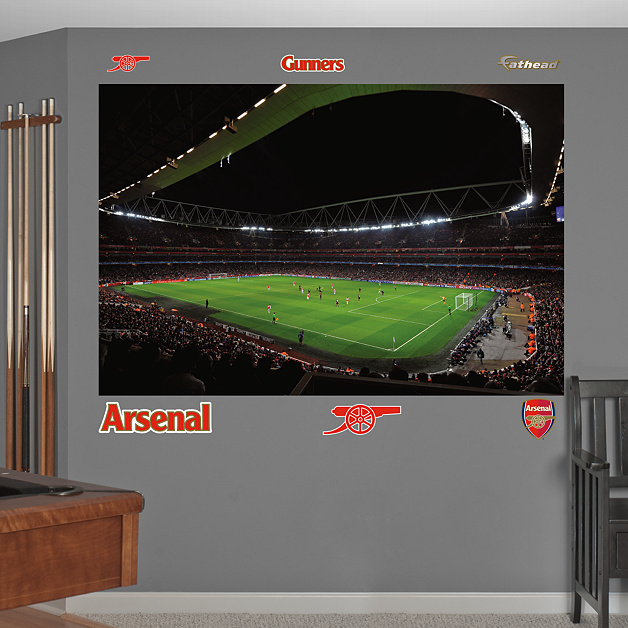 Emirates stadium mural wall decal shop fathead for for Emirates stadium mural