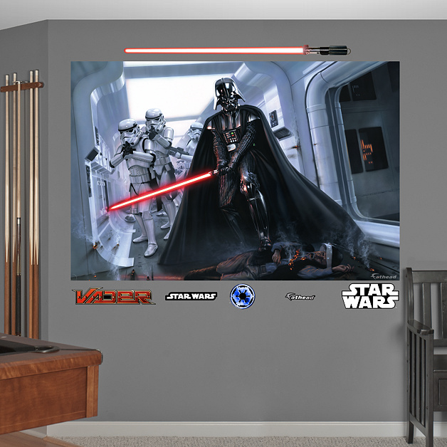 darth vader stormtroopers fallen rebel mural wall decal shop fathead for star wars movies. Black Bedroom Furniture Sets. Home Design Ideas