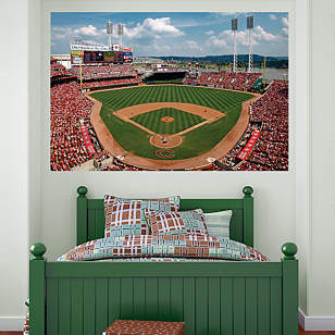 Inside Great American Ball Park Mural