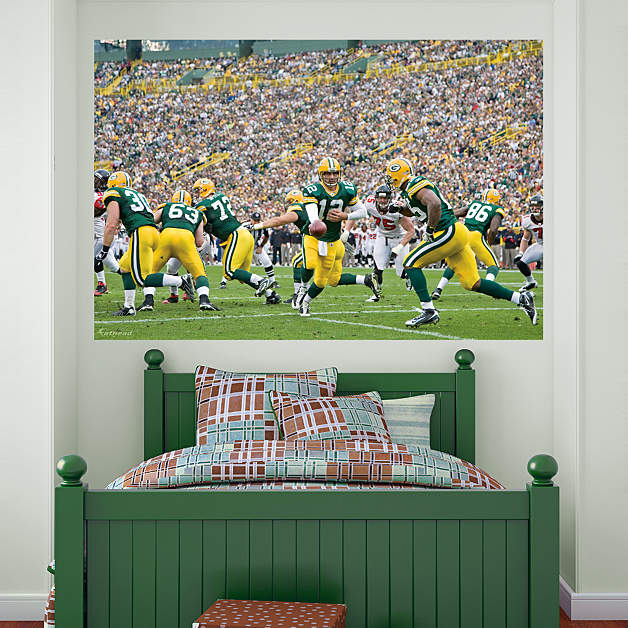 Packers backfield in your face mural wall decal shop for Bay view wall mural