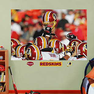 Redskins Helmets In Your Face Mural