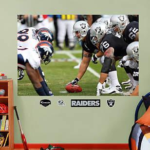 Raiders-Broncos Line of Scrimmage Mural