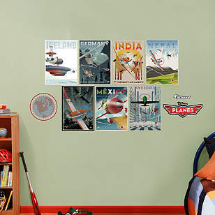 Planes Vintage Poster Collection
