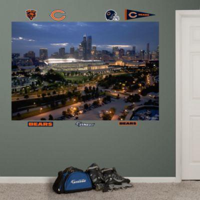 Patriots-Giants Line of Scrimmage Mural